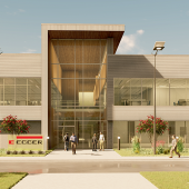 Egger starts construction of an office building in North Carolina